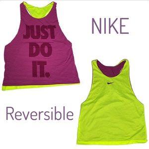 Nike Neon Yellow Mesh Just Do It Tank Top Purple